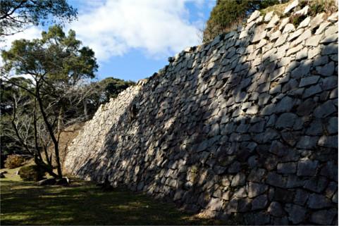 城壁の石積み