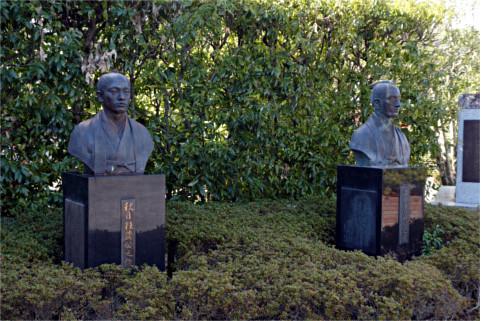 秋月種茂公、上杉鷹山公兄弟の胸像