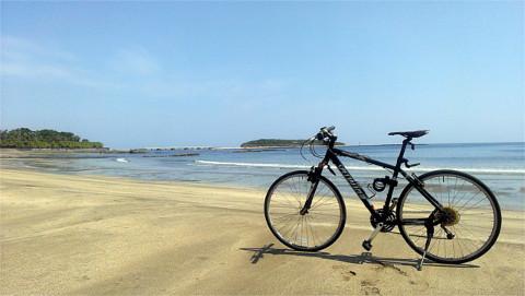 青島とクロスバイク