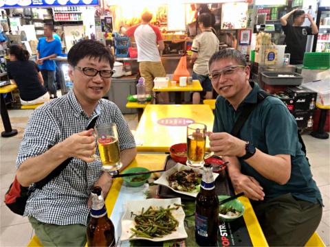石田君と乾杯