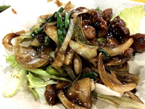 蛙肉と野菜の炒め物