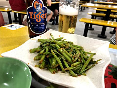 空心菜のサンバル炒め