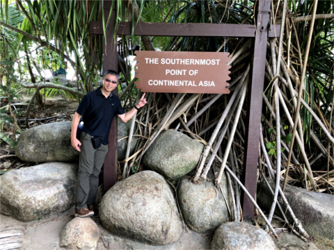 the Southernmost Point of Continetal Asia