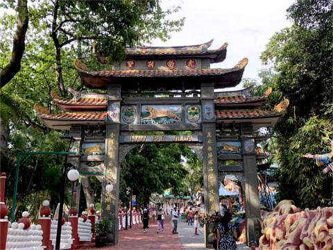Haw Par Villaの門